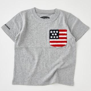 ロデオクラウンズ(RODEO CROWNS)のRODEO CROWNS WIDE BOWLキッズUSサガラポケット国旗Tシャツ(Tシャツ/カットソー)
