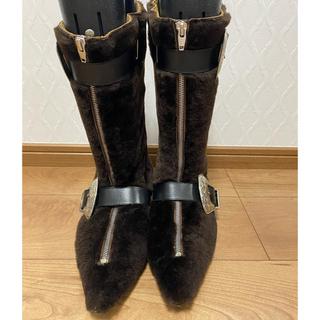トーガ(TOGA)の売り切り‼値下げ︎togaファーブーツ☆定価8万程美品(ブーツ)