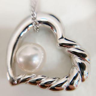 タサキ(TASAKI)の田崎真珠 TASAKI SHINJU silver シルバー ネックレス ハート(ネックレス)