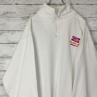 アンブロ(UMBRO)の【激レア】アンブロ 90s 刺繍ワンポイントロゴ ハーフジップ スウェット 人気(スウェット)