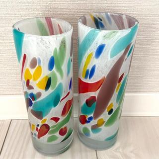 フランフラン(Francfranc)の新品 フランフラン  メランジュ フラワーベース 花瓶 2点セット オシャレ(花瓶)
