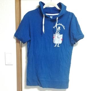 グラニフ(Design Tshirts Store graniph)の半袖パーカー スウェット 青Blue Mサイズ(パーカー)