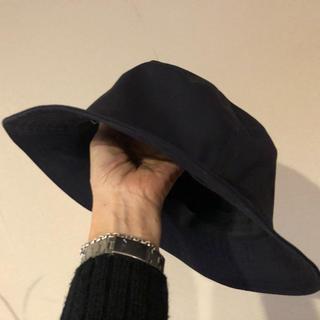 ムジルシリョウヒン(MUJI (無印良品))の無印のコットン100 の帽子 ネイビー(ハット)