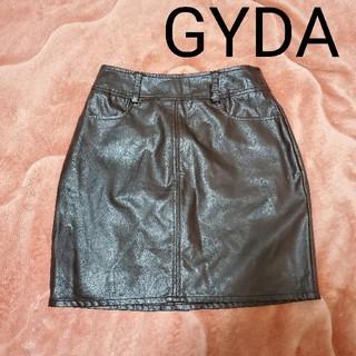 ジェイダ(GYDA)のgyda ブラウン レザー スカート タイトスカート(ミニスカート)