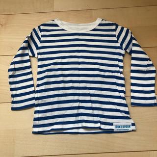 ドアーズ(DOORS / URBAN RESEARCH)の☆DOORS キッズ ボーダー長袖Tシャツ ブルー系 90cm☆(Tシャツ/カットソー)