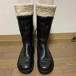 ビルケンシュトック(BIRKENSTOCK)のフットプリンツ ビルケンシュトック ニットレザーブーツ 38 24.5cm(ブーツ)