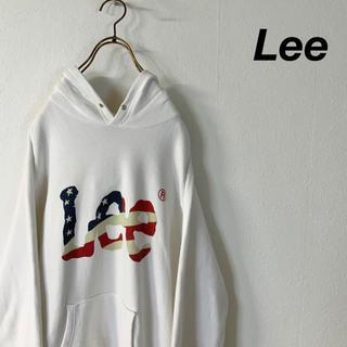 リー(Lee)のLee 星条旗柄 ビッグロゴ フーディパーカー(パーカー)