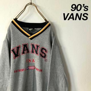 ヴァンズ(VANS)の90's OLD VANS ビッグ刺繍 鹿の子 スウェット(スウェット)