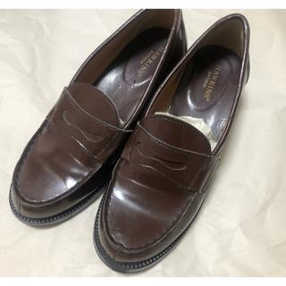 ホーキンス(HAWKINS)のHAWKINS 茶色 ローファー 24.5cm(ローファー/革靴)