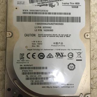 ヒタチ(日立)のseagate 2.5インチ 500GB  HDD(PCパーツ)