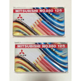 ミツビシエンピツ(三菱鉛筆)の三菱鉛筆 色鉛筆12色入りを2個(色鉛筆)