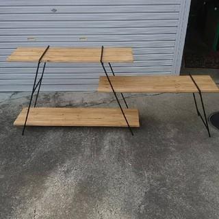 アイアンラック キャンプ アウトドア 棚 テーブル アイアンシェルフ 多肉植物