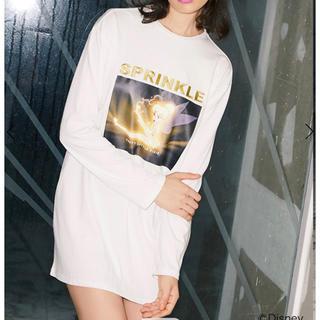 エイミーイストワール(eimy istoire)のTink SPARKLE ロングTシャツ(Tシャツ/カットソー(七分/長袖))