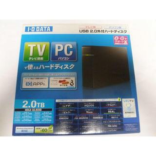 アイオーデータ(IODATA)の外付けHDD 2TB I・O DATA HDCA-U2.0CKB(PC周辺機器)