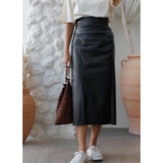 ルームサンマルロクコンテンポラリー(room306 CONTEMPORARY)のroom306♡leather pencil skirt(ロングスカート)