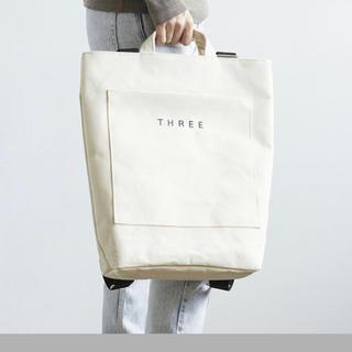 スリー(THREE)の【サンプル付き】THREE オリジナル スワッグ バッグ(その他)