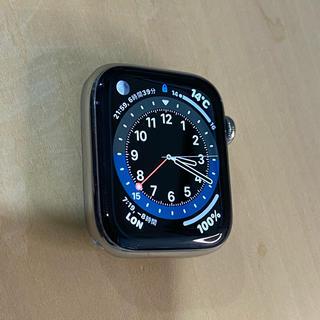アップルウォッチ(Apple Watch)のAppleWatch 4 GPS セルラー ステンレス44mm (腕時計(デジタル))