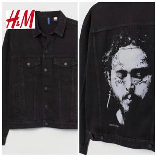 エイチアンドエム(H&M)の新品 安値 H&M × post malone コラボ デニムジャケット L(Gジャン/デニムジャケット)