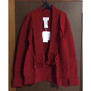 マルタンマルジェラ(Maison Martin Margiela)のM新品 メゾン マルジェラ レディース マフラー ニット カーディガン セーター(ニット/セーター)