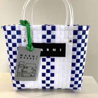 マルニ(Marni)の即日配送 ピクニックバック ホワイト(かごバッグ/ストローバッグ)