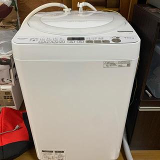SHARP - SHARP 全自動洗濯機 7kg ステンレス穴なし槽 ES-GE7D-W