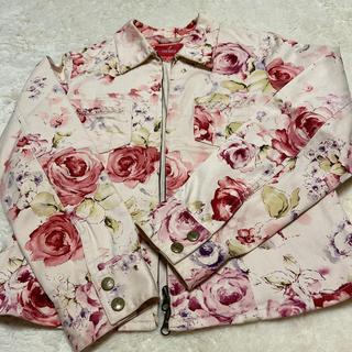 ピンクハウス(PINK HOUSE)のピンクハウス💖今から重宝・薔薇柄🌹素敵なジャケット美品(Gジャン/デニムジャケット)