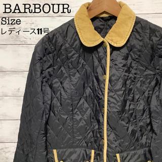 BARBOUR  レディースキルティングコート ジャケット ブラック×ベージュ