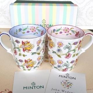 MINTON - ミントン、ハドンホール、セレブレーションマグカップペア