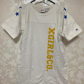 エックスガール(X-girl)のX-girl×championコラボTシャツワンピース(Tシャツ(長袖/七分))