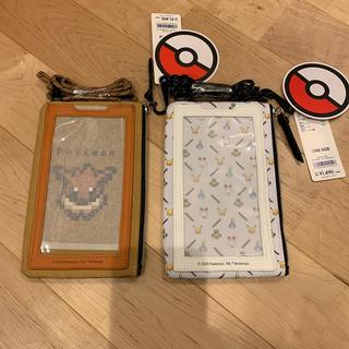 ジーユー(GU)のgu ポケモン モバイル ネック ポーチ スマホケース 2個セット(モバイルケース/カバー)