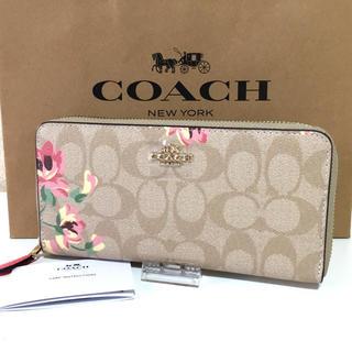 コーチ(COACH)のCOACH コーチ 長財布 新品未使用 花柄 フラワー 新品(財布)