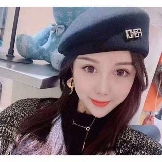 フェンディ(FENDI)のFENDIフェンディファッションベレー帽(ニット帽/ビーニー)