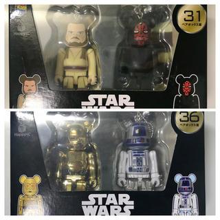 メディコムトイ(MEDICOM TOY)のスターウォーズ ベアブリック クワイガン ダースモール R2-D2 C-3PO(SF/ファンタジー/ホラー)