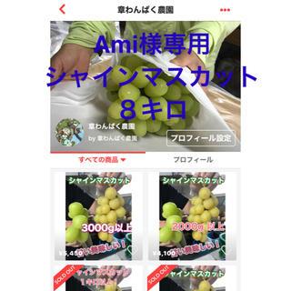 Ami様専用 シャインマスカット 8キロ 章わんぱく農園(フルーツ)