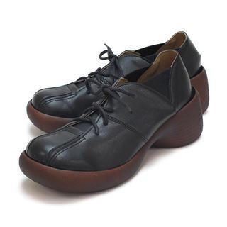 リゲッタカヌー(Regetta Canoe)のリゲッタカヌー  ブロックヒールBLACK(ローファー/革靴)