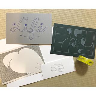 ミナペルホネン(mina perhonen)のミナペルホネン つづく展限定 マスキングテープとポストカードセット(テープ/マスキングテープ)