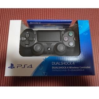 プレイステーション4(PlayStation4)の【新品未開封】PS4 コントローラー DUALSHOCK 4 ジェットブラック(その他)