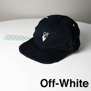 オフホワイト(OFF-WHITE)の新品 2020SS OFF-WHITE ダメージ加工キャップ(キャップ)