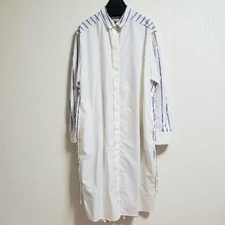 ブランバスク(blanc basque)のシャツワンピース ストライプ✖️オフホワイト(ロングワンピース/マキシワンピース)