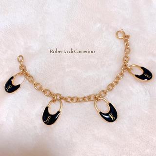 ロベルタディカメリーノ(ROBERTA DI CAMERINO)の【Roberta di Camerino】ITALY チャームブレスレット 美品(ブレスレット/バングル)