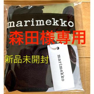 marimekko - 再販!!新品未開封⭐︎マリメッコ ウニッコ 大柄 エコバッグ スマートバッグ 黒