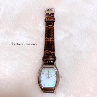 ROBERTA DI CAMERINO - 【Roberta di Camerino】シェル文字盤 腕時計 稼働品 美品