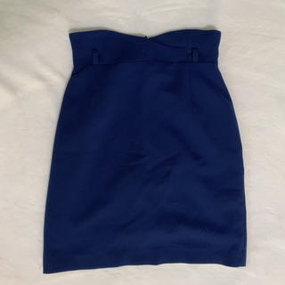 サリア(salire)のサリア  スカート ネイビー(ひざ丈スカート)