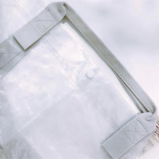 ムジルシリョウヒン(MUJI (無印良品))の新品 無印良品 ポリエチレンシート ミニ トートバッグ 半透明(エコバッグ)