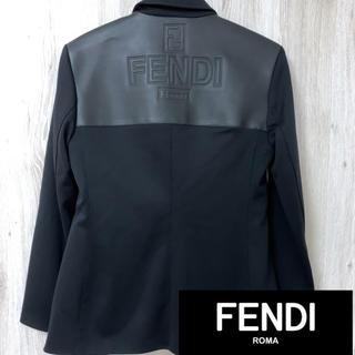 フェンディ(FENDI)のフェンディ ジーンズ FENDI genes  バック ロゴ ジャケット(テーラードジャケット)