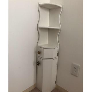 スナイデル(snidel)の白家具* シェル コーナーラック*サニタリー*アンティーク(トイレ収納)