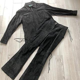 美品レザー!RALPH LAUREN ラルフローレン M 黒 ブラック セット
