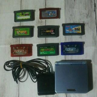 ゲームボーイアドバンス(ゲームボーイアドバンス)のゲームボーイアドバンスSP本体、ソフト8本セット(携帯用ゲーム機本体)