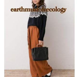 アースミュージックアンドエコロジー(earth music & ecology)のearthmusic&ecology  ワイドパンツ FREESIZE(その他)