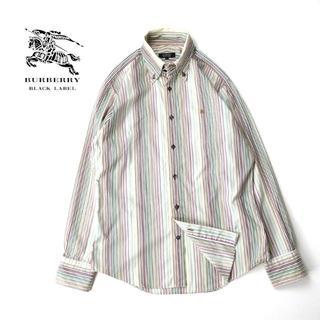 バーバリーブラックレーベル(BURBERRY BLACK LABEL)のBURBERRY BLACK LABEL グラデーションストライプBDシャツ(シャツ)